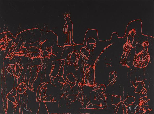 Sergio Hernández, 'Caminantes', Bernardini Art Gallery & Auction House