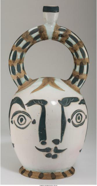 Pablo Picasso, 'Vase aztèque aux quatre visages', 1957, Design/Decorative Art, Terre de faïence pitcher, partially glazed, Heritage Auctions