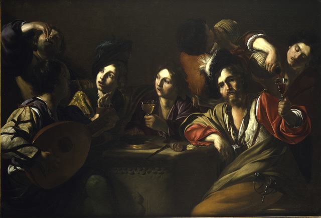 , 'A Drinking and Musical Party,' 1615-1620, The National Gallery, London