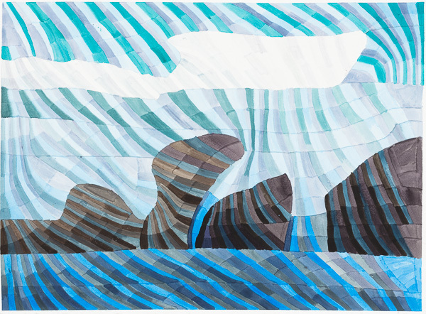 Kathy Wen, 'Rock and Ocean', 2018, Creativity Explored