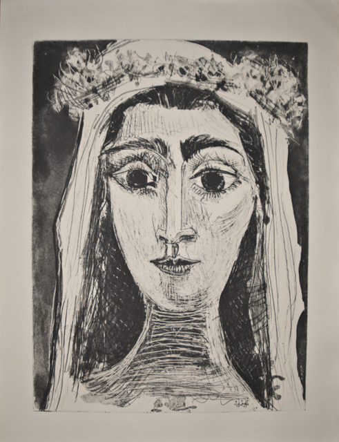 , 'Jacqueline en Mariée, de face I (6th state of 18),' 1961, John Szoke