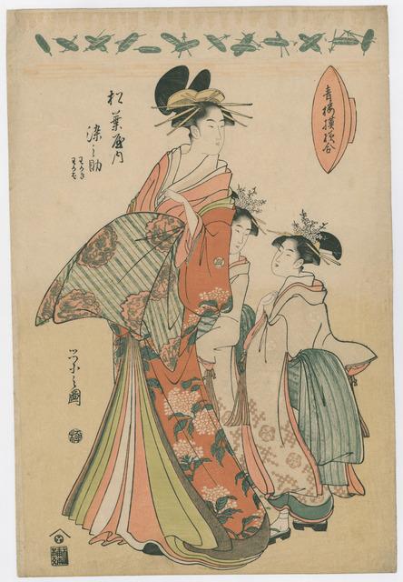 , 'Comparison of Brothel Patterns: Somenosuke of the Matsuba-ya,' 1776-1797, The Art of Japan