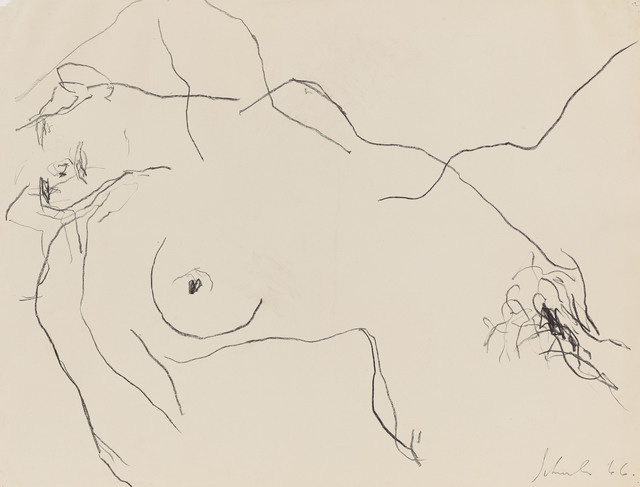 , 'Nude Study, II (dr. 66-8),' 1966, Berry Campbell Gallery