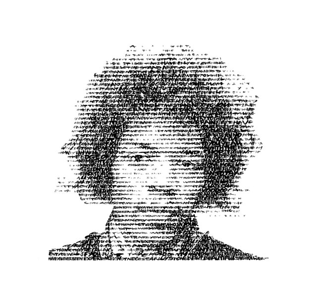 David Hollier, 'Jimi Hendrix (Text: Fire, Voodoo Child, Are you Experienced?)', 2017, New Apostle Gallery