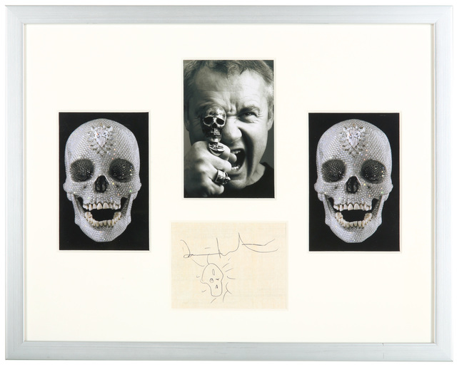 Damien Hirst, 'Doodle & Signature', Other, Pen On Paper With Ephemera, Chiswick Auctions