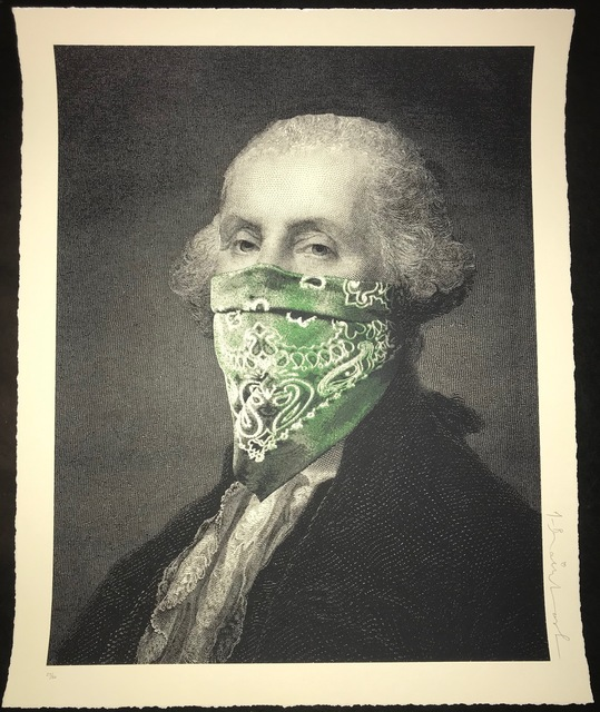"Mr. Brainwash, '""George Washington President's Day Bandanna"" ', 2018, Print, Screen Print On Paper, New Union Gallery"