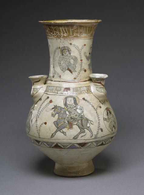 'Flower Vase with Horsemen', 13th century, Walters Art Museum