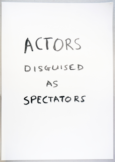 , 'Actors Disguised,' 2015, VITRINE
