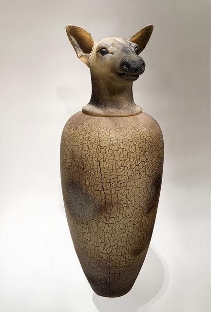 , 'CANOPIC JAR-COW ELK,' 1993, Heller Gallery