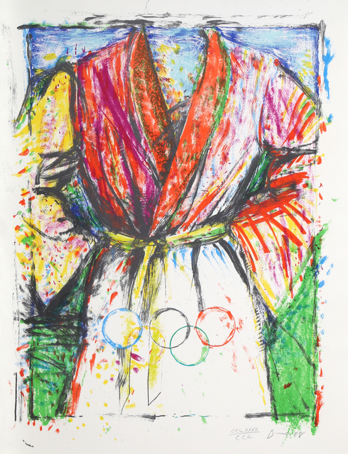 Jim Dine, 'Olympic Robe', 1988, Print, Lithograph on Arches Paper, RoGallery Gallery Auction