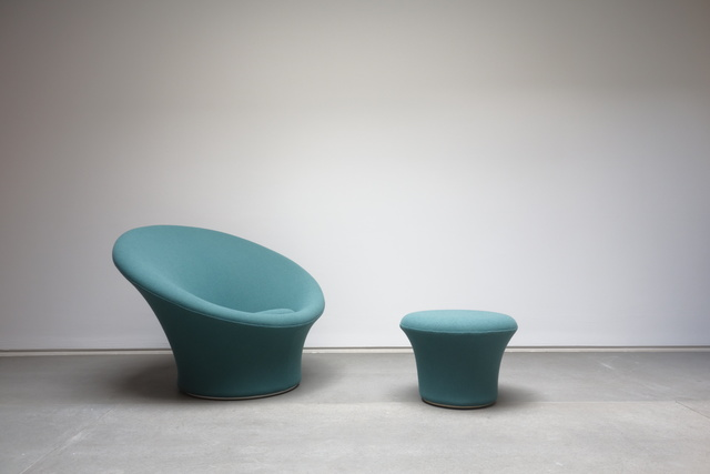 ", '""Mushroom"" armchair and ottoman,' 1959-1960, Jousse Entreprise"