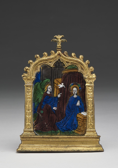 , 'Pax with Annunciation,' Limoges-early 16th century, Blumka Gallery