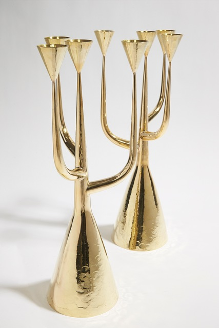 , 'Pair of Candle Holders,' ca. 1970, Leclaireur