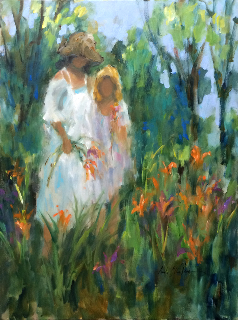 , 'Sisters in Lily Garden,' , Beverly McNeil Gallery