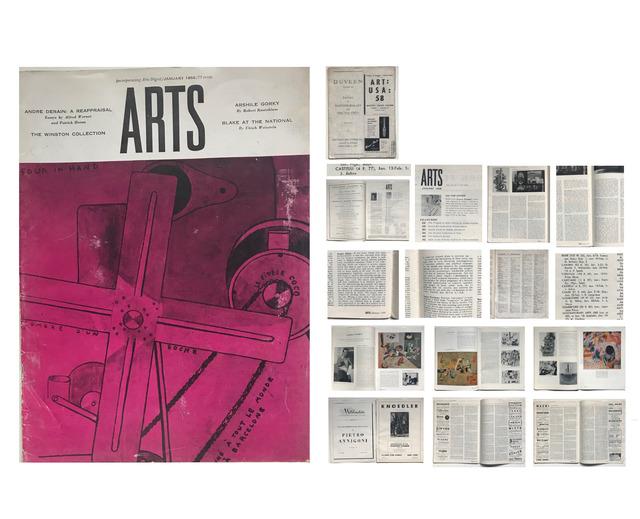 Jasper Johns, 'Jasper Johns- FIRST ONE MAN SHOW REVIEW, Leo Castelli Gallery, Review by Robert Rosenblum, ARTS Magazine (Arts Digest),', Jan. 1958, VINCE fine arts/ephemera