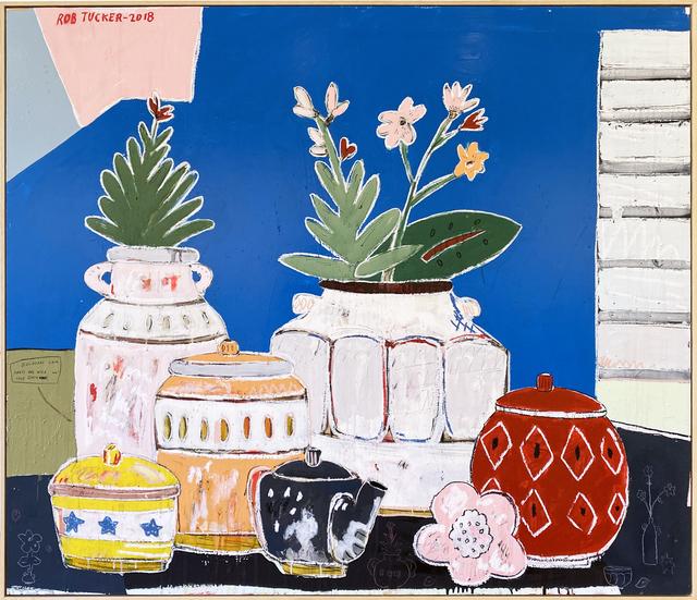 Rob Tucker, 'Blueberry Jam Tarts are Nice', 2018, Painting, Acrylic, oil & pastel on board, Piermarq