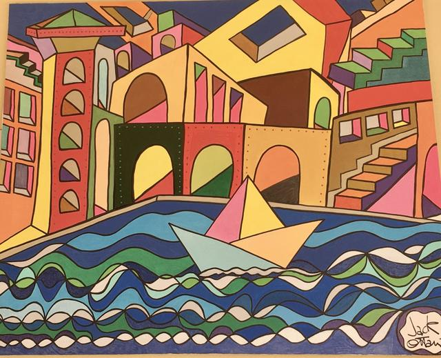 Jack Ottanio, 'San Marco 2050', 2020, Painting, Acrylic on canvas, SmART Coast Gallery