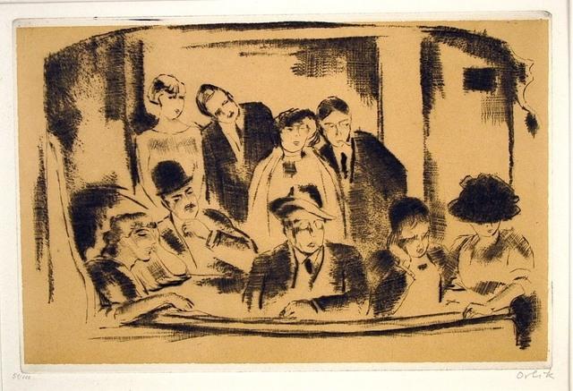 Emil Orlik, 'Die Loge im Gaite Montparnasse (Paris)', 1911, Harris Schrank Fine Prints