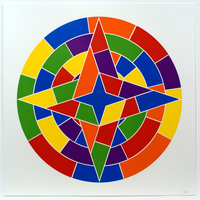 Sol LeWitt, Tondo 2 (4 point star)