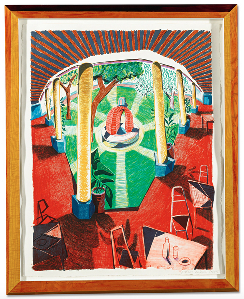 David Hockney, 'View of Hotel Well III', 1984-1985, Upsilon Gallery