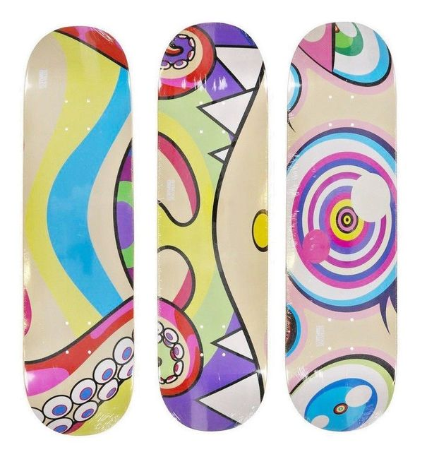 Takashi Murakami, 'Set of 3 Skate Deck Dobtopus from Complexcon 2017', 2017, Dope! Gallery