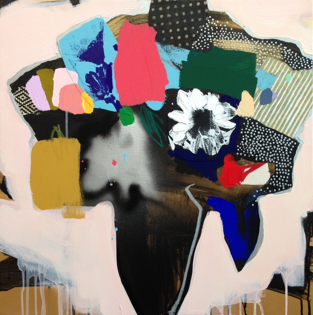 , 'Vase Of Flowers (Peach),' 2016, Rebecca Hossack Art Gallery