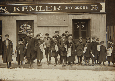 Lewis Wickes Hine, 'Paper Boys, Hartford, Connecticut,' ca. 1909, Phillips: The Odyssey of Collecting
