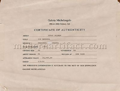 LeRoy Neiman, 'Joe Montana Superbowl 1989', 1989, Modern Artifact