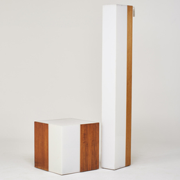 Floor lamp and illuminated table