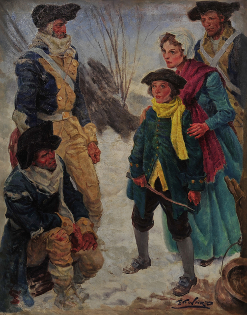 Edmund Franklin Ward, 'Colonial Soldiers at Valley Forge', The Illustrated Gallery
