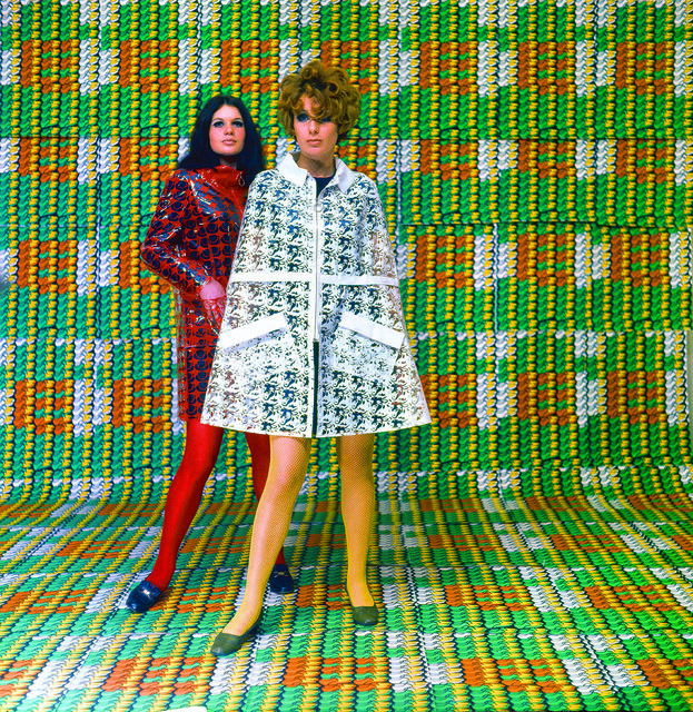 , 'Models wearing coats designed by Lukowski + Ohanian with textile pattern by Thomas Bayrle, Galleria Apollinaire, Milan,' 1967-1968, New Museum