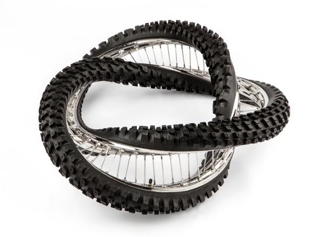 , 'Dunlop Geomax 100/90 -19 57M 540° 2X Trefoil,' 2012, Bernier/Eliades
