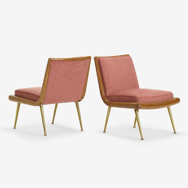 T.H. Robsjohn-Gibbings, 'lounge chairs model 1702, pair', c. 1955, Rago
