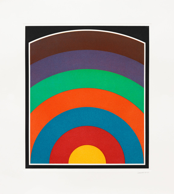 , 'Seven Equal Arcs from the Midpoint of the Bottom, with All One- Two- and Three-part Combinations,' 1990, Pace Prints