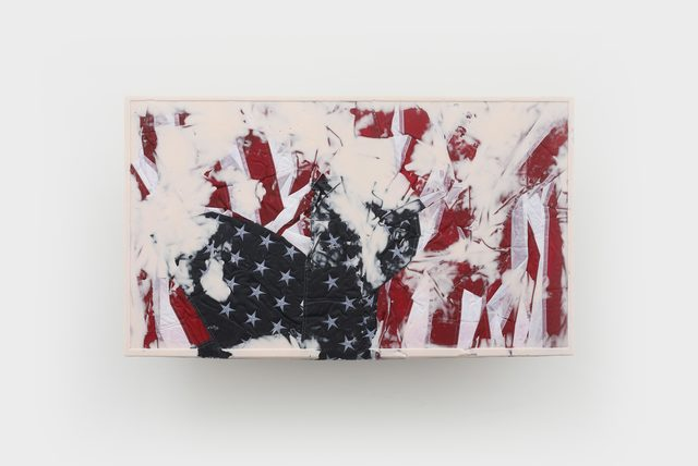 Josh Kline, 'Reality Television 16', 2020, Sculpture, Nylon flags, resin, epoxy, microfiber, mounting hardware, Various Small Fires