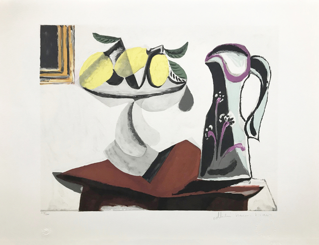 Pablo Picasso, 'NATURE MORTE AU CITRON ET A LA CRUCHE', 1979-1982, Reproduction, LITHOGRAPH ON ARCHES PAPER, Gallery Art