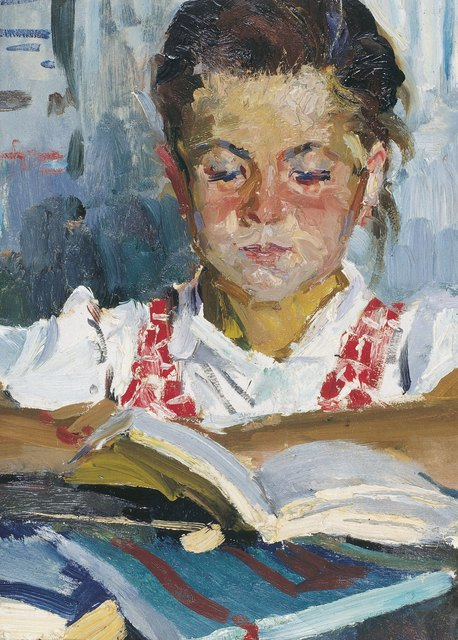 , 'Girl reading,' 1959, Surikov Foundation