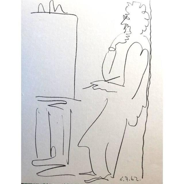 """Pablo Picasso, 'Original Lithograph """"The Painter and his Model IV"""" by Pablo Picasso', 1962, Galerie Philia"""