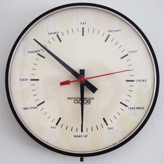 , 'Institutionalized Clock,' 2004, Fountain House Gallery