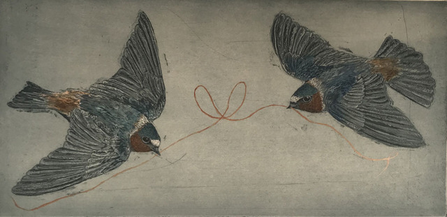 , 'Cliff Swallows ,' 2018, Wally Workman Gallery