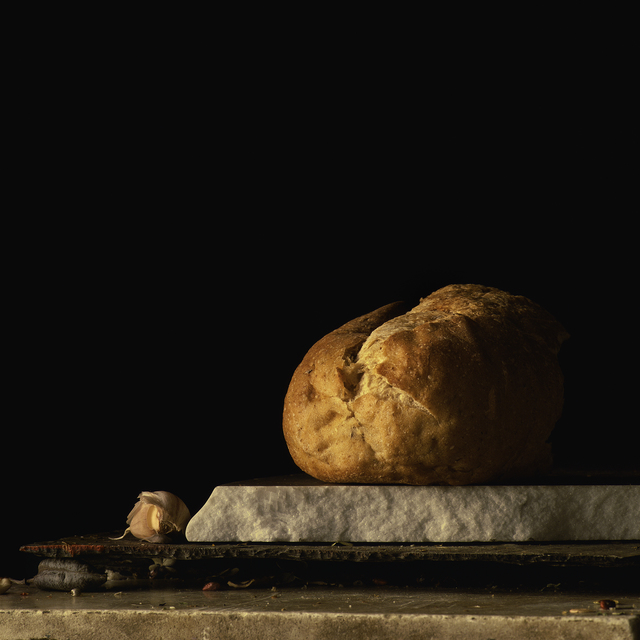 , 'Still Life with Bread and Garlic Clove,' , Pucker Gallery