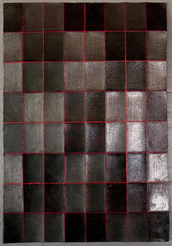 'Fold Drawing 2017-red-05', 2017, 29,7 x 21 cm, acrylic, graphite on paper; photo: Takayuki Daikoku