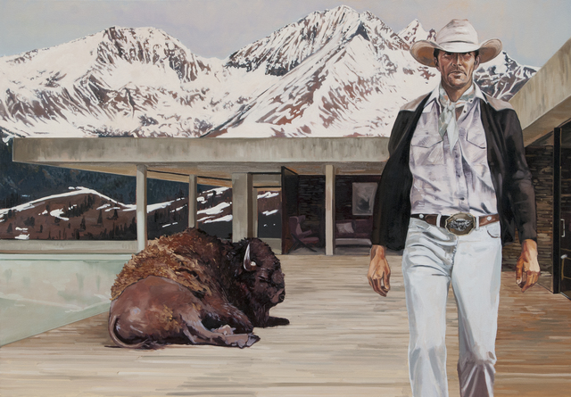 , 'A Man and His Buffalo ,' , Visions West Contemporary