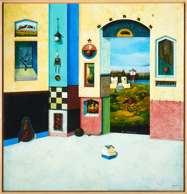 Robert Rasely, 'In the Cabinet of Creation', 1997, Painting, Oil on birch plywood (framed), Rago/Wright