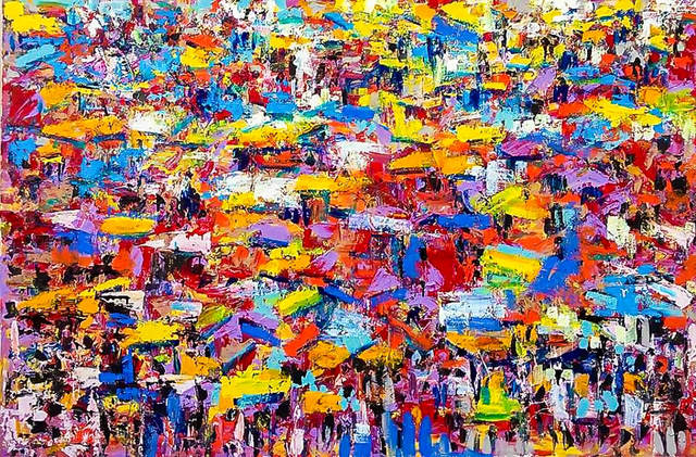Larry Otoo, 'Colourful market', 2018, Out of Africa Gallery
