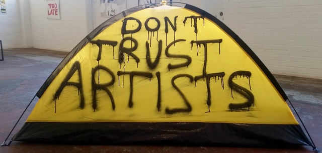 , 'Don't Trust Artists,' 2016, Museum of African Design (MOAD)