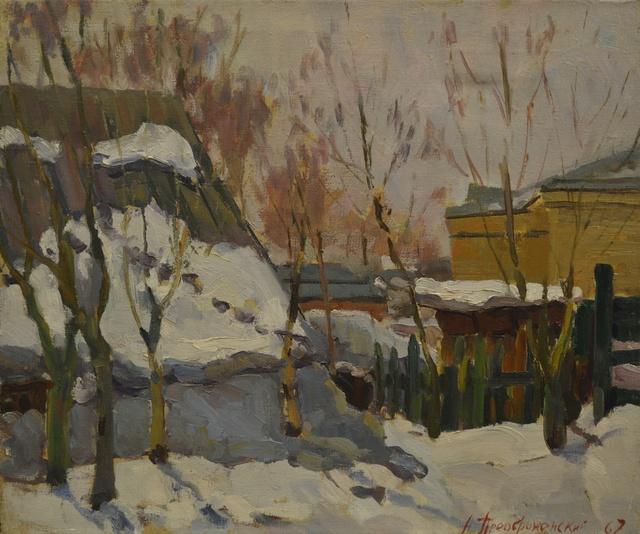Aleksandr Ivanovich Preobrazhensky, 'Early snow', 1967, Surikov Foundation