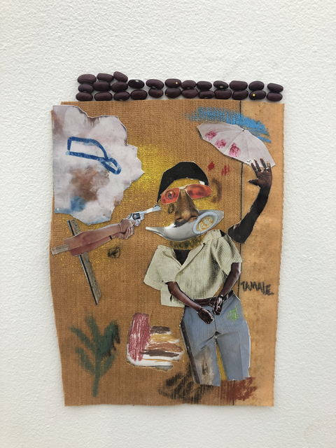 John Rivas, 'Untitled', 2019, Drawing, Collage or other Work on Paper, Beans, mixed media, collage, Superposition