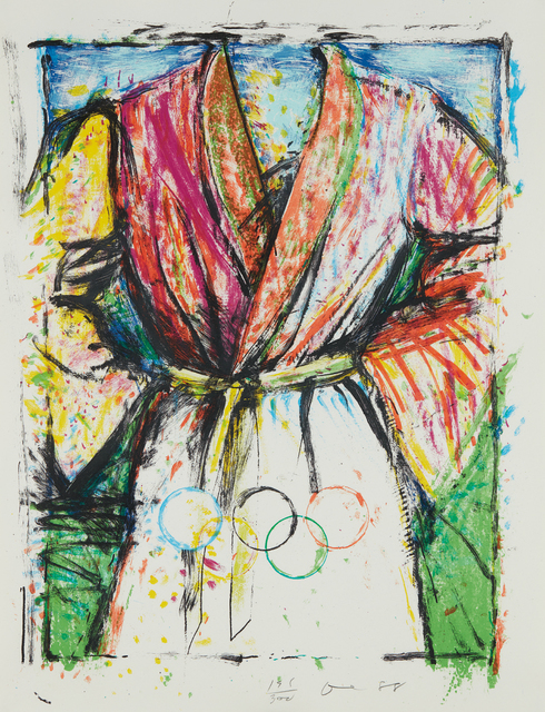 Jim Dine, 'Olympic Robe', 1988, Print, Lithograph in colors, on wove paper, the full sheet, Phillips