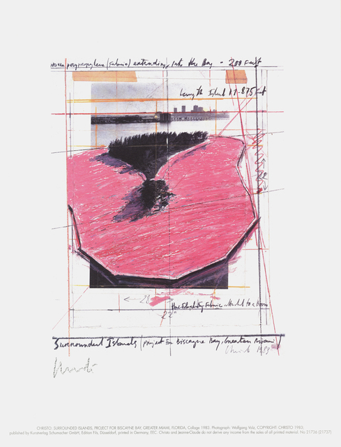 Christo, 'Surrounded Islands, Project for Biscane Bay, Greater Miami, Collage', 1983, ArtWise
